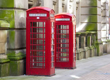 Red Telephone boxes Stock Image