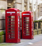 Red Telephone boxes. In Birmingham street, United Kingdom Royalty Free Stock Photo