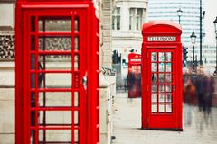 Red telephone boxes Royalty Free Stock Images
