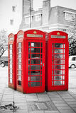 Red telephone boxes. London, England Stock Photography