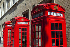 Red Telephone Boxes in London Royalty Free Stock Photography