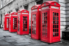 Red Telephone Boxes, Westminster, London Royalty Free Stock Photo