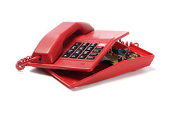 Red Telephone And Components Royalty Free Stock Photography