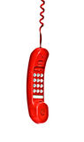 Red telephone handset Stock Images