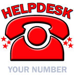 Red Telephone Helpdesk. A red ringing telephone with the words HELP DESK above Royalty Free Stock Photos