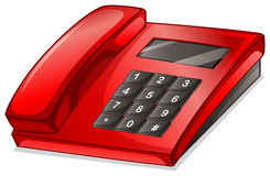 A red telephone. Illustration of a red telephone on a white background Royalty Free Stock Photography