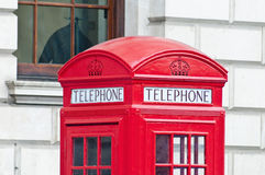 Red telephone at London, England Royalty Free Stock Photo