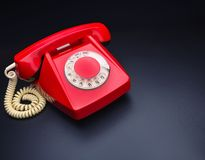 Red telephone Stock Photo