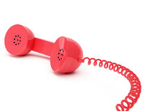 Red telephone receiver Royalty Free Stock Images