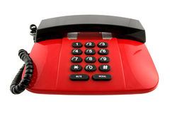 Red telephone set Royalty Free Stock Images