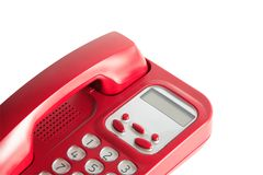Red Telephone On White Royalty Free Stock Photography