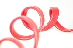 Red Telephone Wire Stock Photo