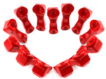 Red telephones in love Stock Images