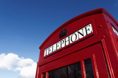 Red telophone box Royalty Free Stock Photos