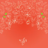 Red template for greeting card Royalty Free Stock Images