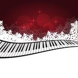 Red template with piano Royalty Free Stock Photography