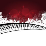 Red template with piano Royalty Free Stock Image