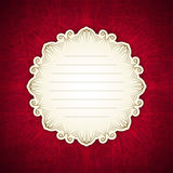 Red template with white label. Vintage design. Royalty Free Stock Image