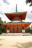 Red Temple on Mount Kōya Royalty Free Stock Photos