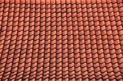 Red Temple Roof Tiles Stock Photo