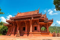 Red Temple on Samui royalty free stock images