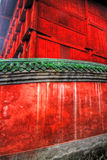 Red Temple Walls. Close up of the bright red walls of the Wudang Shan Temple in the Hubei district in China Stock Images