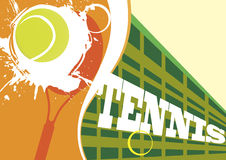 Red tennis court. Vector illustration Royalty Free Stock Images