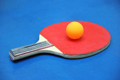 Red tennis racket Royalty Free Stock Image