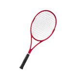 Red tennis racket isolated white. Background Stock Photos