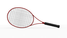 Red tennis racket isolated on white Royalty Free Stock Photos