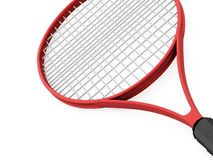 Red tennis racket on white Stock Image