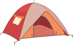 Red tent Stock Photo