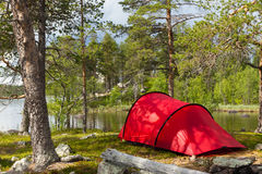 Red tent Stock Photography