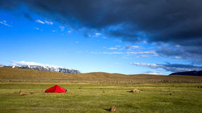 Red tent Royalty Free Stock Photos