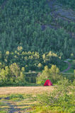 Red tent Stock Images