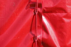 Red tent tarpaulin Royalty Free Stock Images