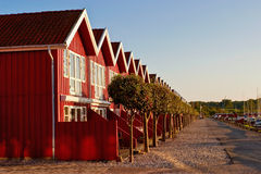 Red terrace house Royalty Free Stock Photos