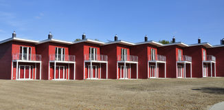 Red terraced house side-view Royalty Free Stock Images