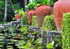 Red Terracotta Pots stock photos