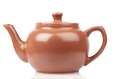 Red terracotta teapot Stock Photography