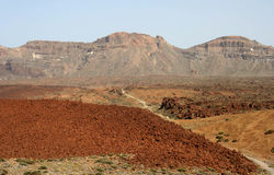 Red Terrain near Teide Stock Photography