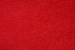 Red terry towel Stock Photography