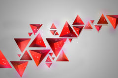 Red tetrahedrons Royalty Free Stock Image
