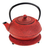 Red tetsubin teapot Royalty Free Stock Images