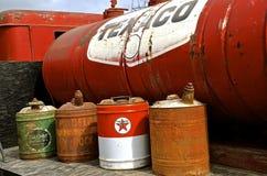 He red Texaco gas barrel Stock Photography