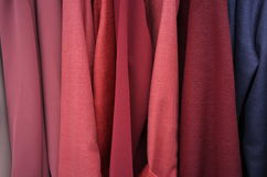 Red texile pile  draps Stock Photography