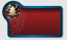 Red text box with a Christmas motif and falling snow. Dark red text box with a Christmas motif and falling snow royalty free illustration