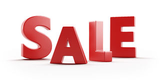 Red text SALE Stock Photos