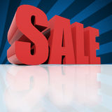 Red text SALE over blue background Royalty Free Stock Photo