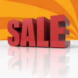 Red Text SALE Over Orange Background Royalty Free Stock Image